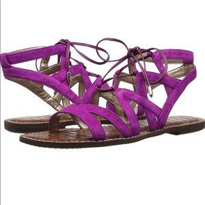 Sam Edelman Gemma Fuchsia Pink Gladiator Sandals